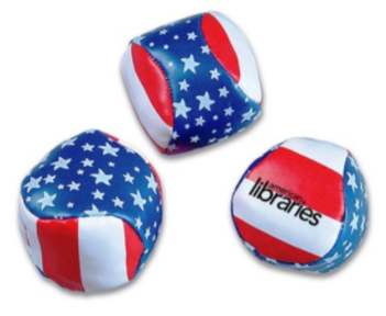 American flag branded promotional products can include little kicking sacks