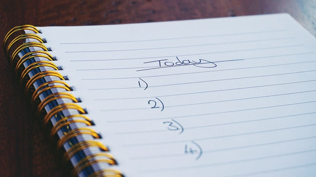Making a list can help reduce stress and anxiety. Suzy Hazelwood photo.